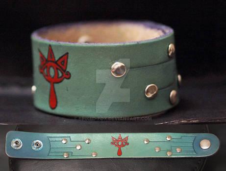Sheikah leather wristband