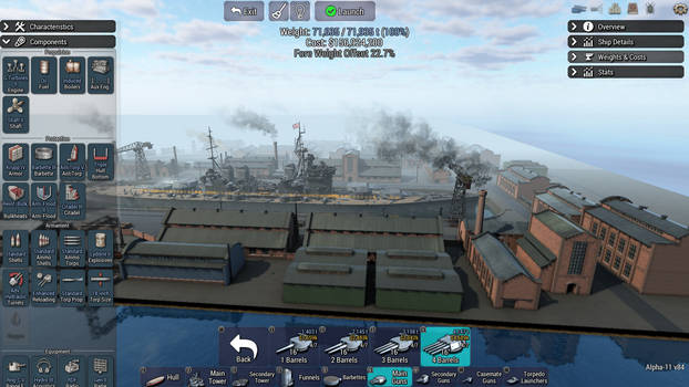 Practice Battleship design Tememaire Class