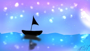 Boat on a Lake by AliCatCookie