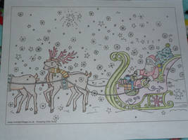 Santa's On His Way by I230
