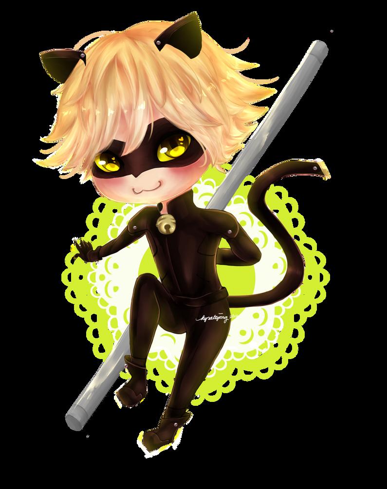 Cat Noir Chibi by kirakoii