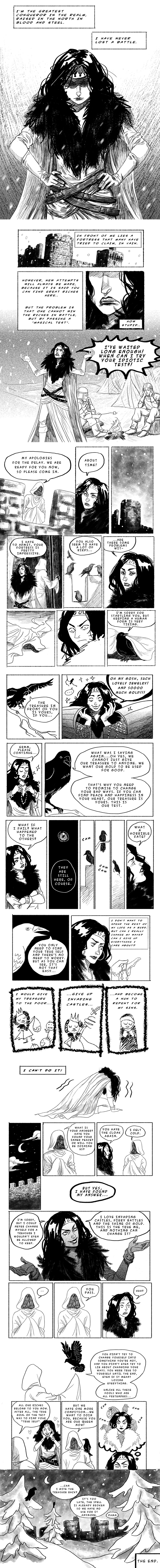 Queen of Birds (7-page comic) by kajoi
