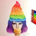 Girl in various flavors