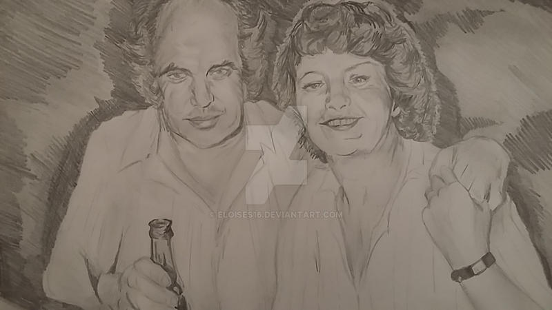 In my time away... a sketch of my Grandparents! by EloiseS16