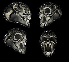 Painted Vampire Skull Set