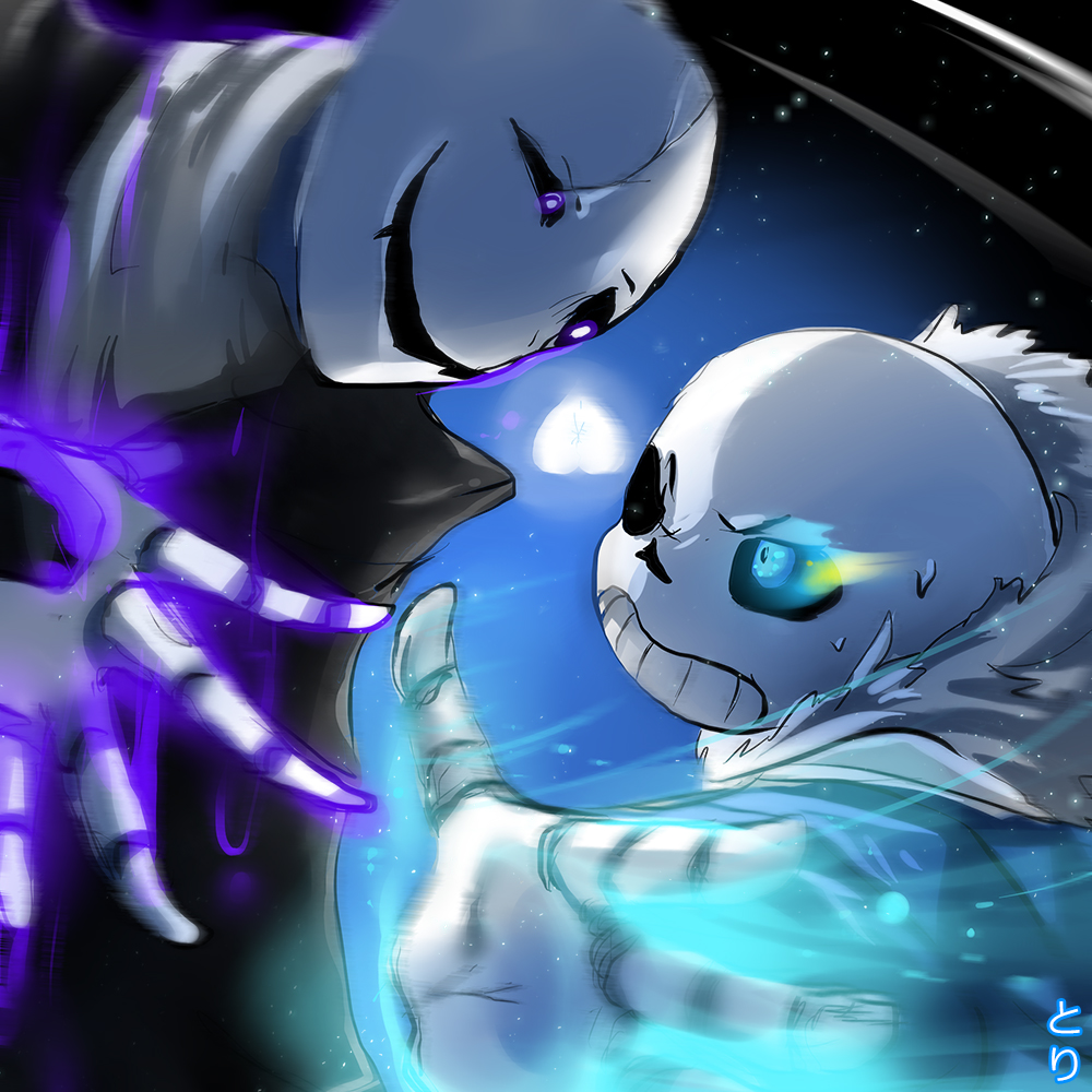 The Pros Of Cons Of Painting Vs Wallpapering: Sans VS Gaster By Toriichi On DeviantArt