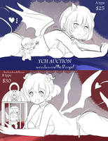 [CLOSED] YCH Auction Succubus and the lil Angel by Toriichi