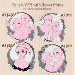 [OPEN] YCH- Couple with flower frame