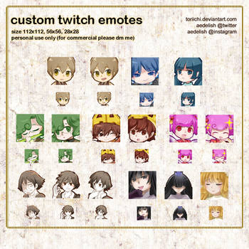 twitch emotes 01 by Toriichi