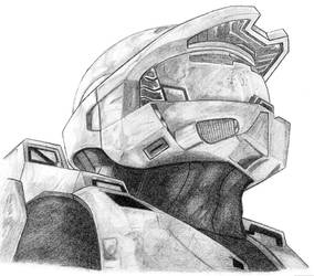 Masterchief Portrait by computerduderec