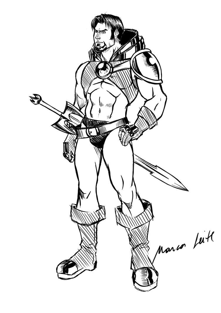 Warrior Sketch by marcos-prl