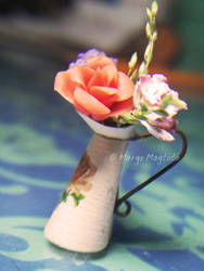 Mini Vintage Flower Pitcher by margemagtoto
