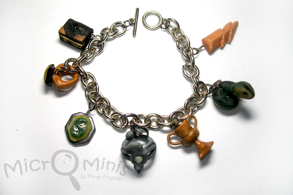 Harry Potter Horcruxes Charm Bracelet By Margemagtoto On