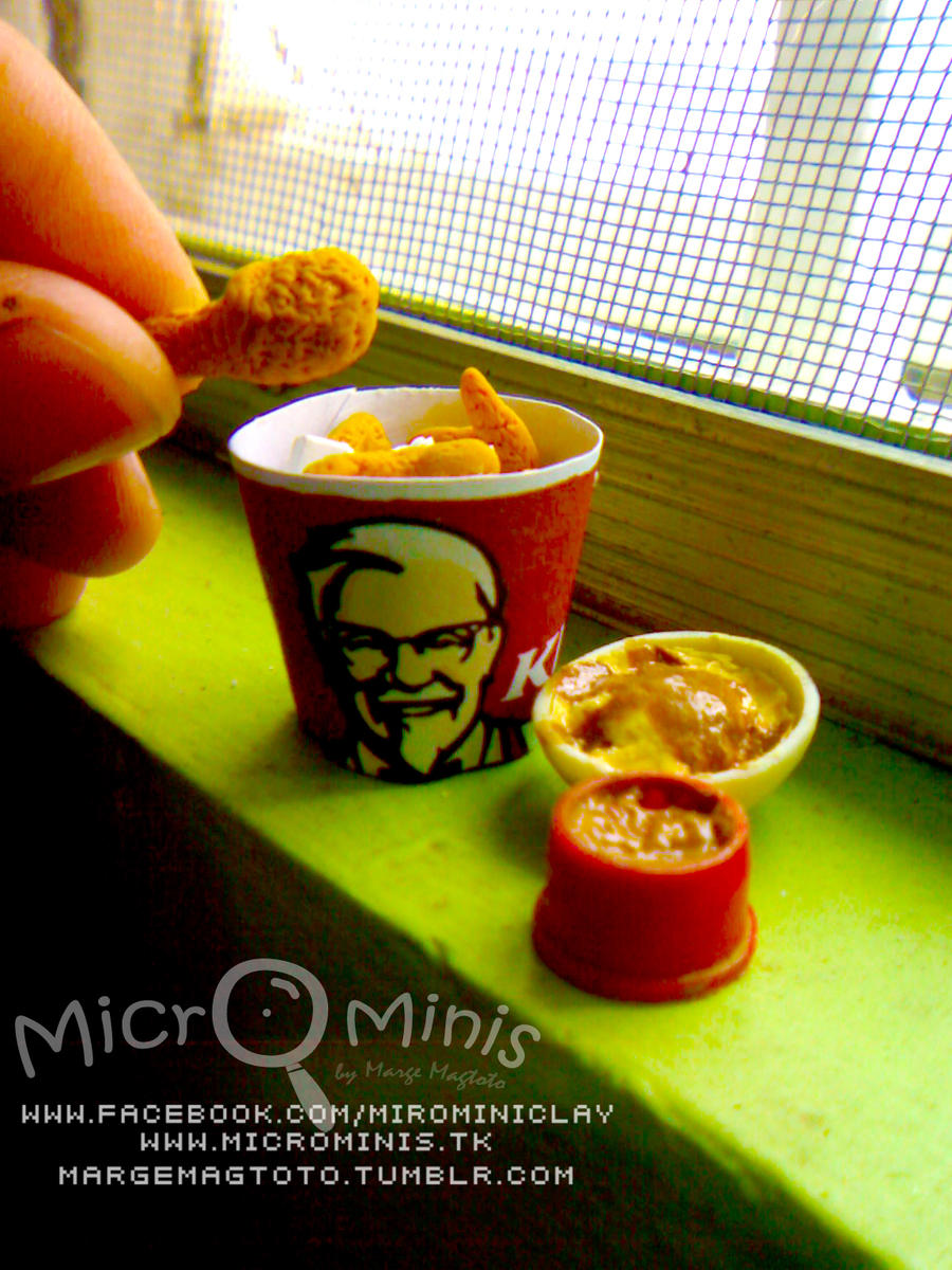 Micromini KFC Bucket Meal by margaeanne
