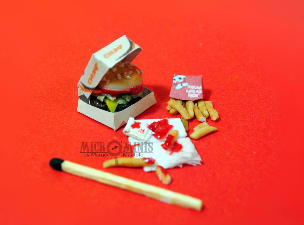 Jollibee inspired Burger Meal Miniature