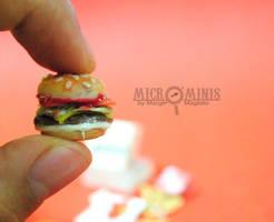 Jollibee Champ Inspired Burger Miniature