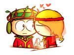 (AT)Kiss cheek