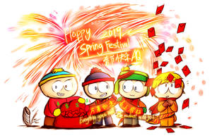 Happy Spring Festival 2019(south park characters) by aq1218