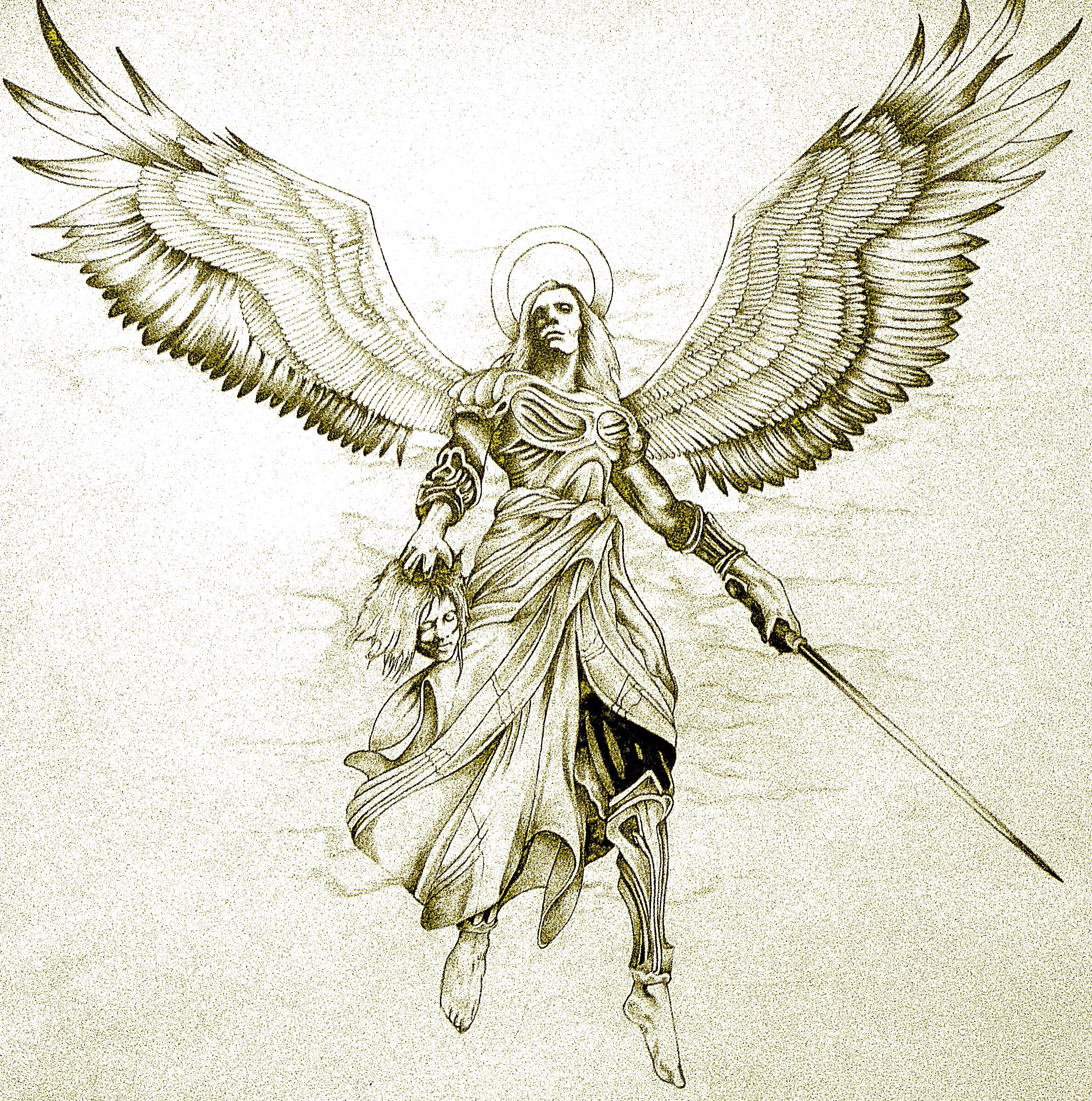 Avenging Angel Tattoo Design by Minkewhale on DeviantArt