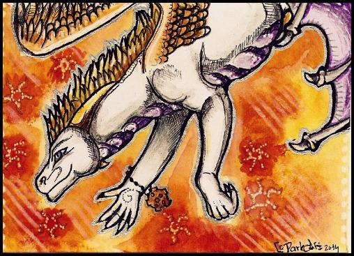 ACEO - Tir-Goldeness by DarkAfi4