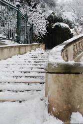 Snowy Stairs by Lenda