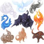 OC Elemental Dragons Art