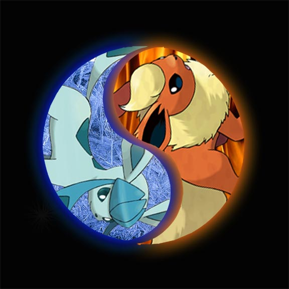 YinYang Fire And Ice Pokemon By Chrisftwz