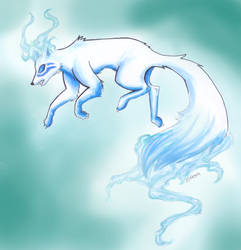 Fox spirit Blue by Takechi-neko