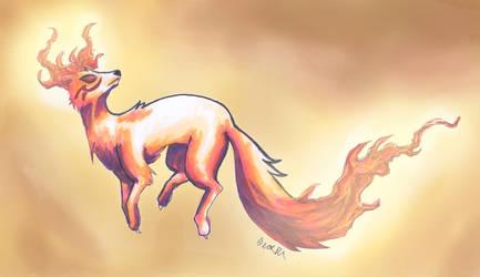 Fox spirit Orange by Takechi-neko