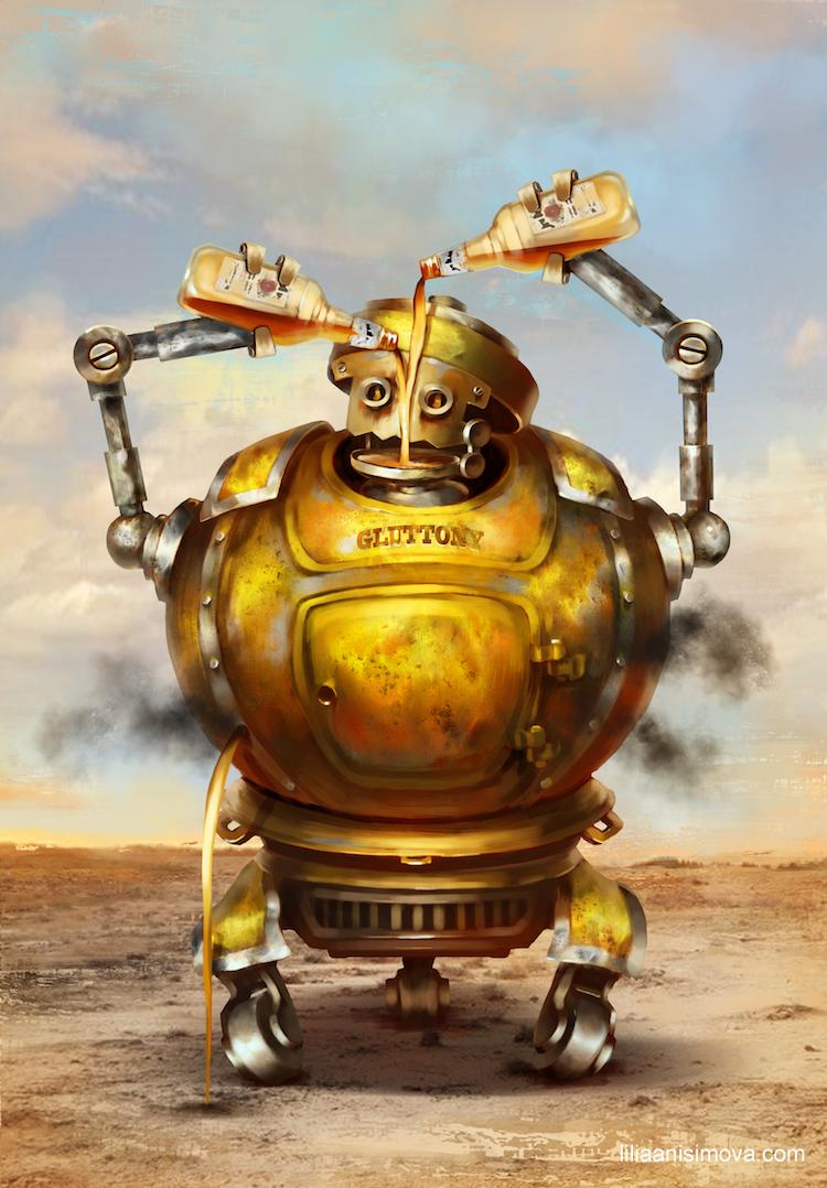 RoboSins Gluttony by Lilia-Anisimova