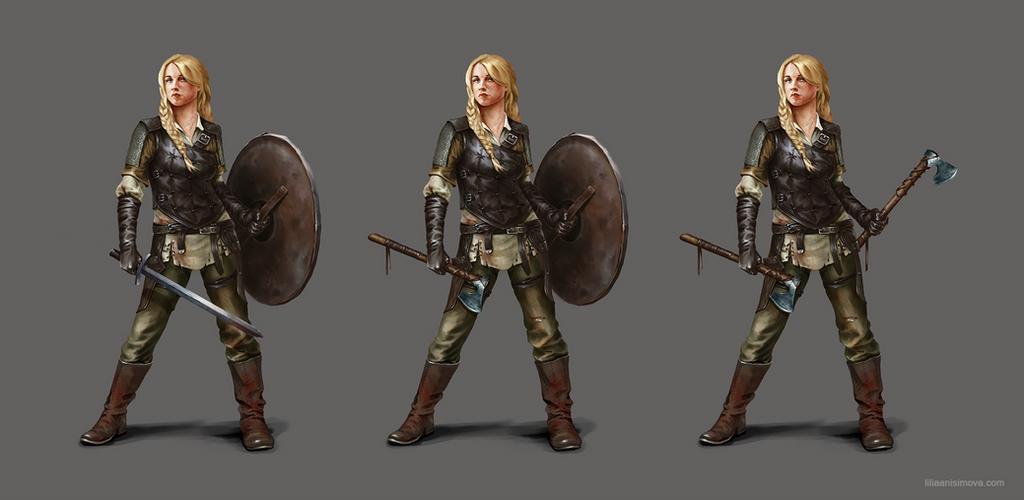 Shieldmaiden concept by Lilia-Anisimova