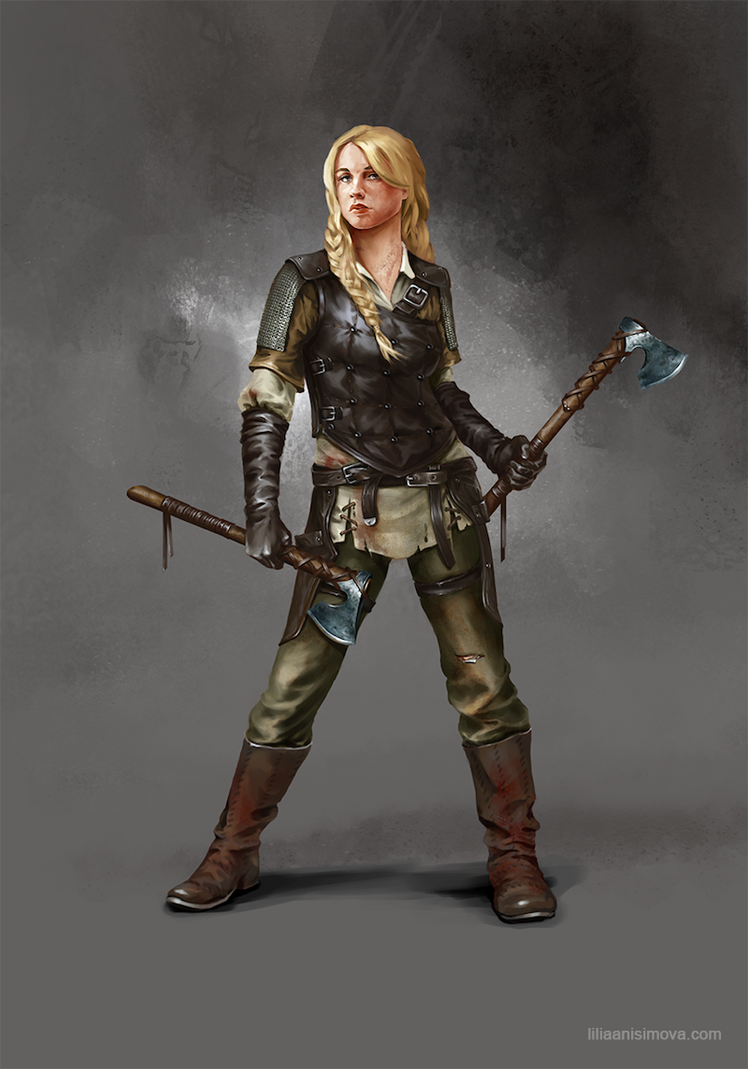 Shieldmaiden by Lilia-Anisimova