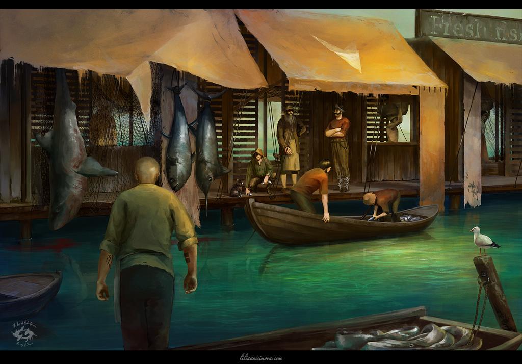 Floating market by Lilia-Anisimova