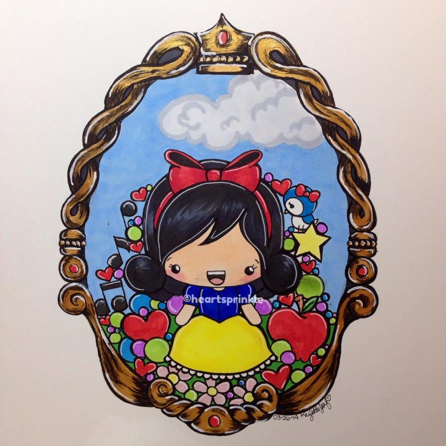 Kawaii Snow White Copic Marker Drawing by heartsprinkle on ... Copic Markers Drawing