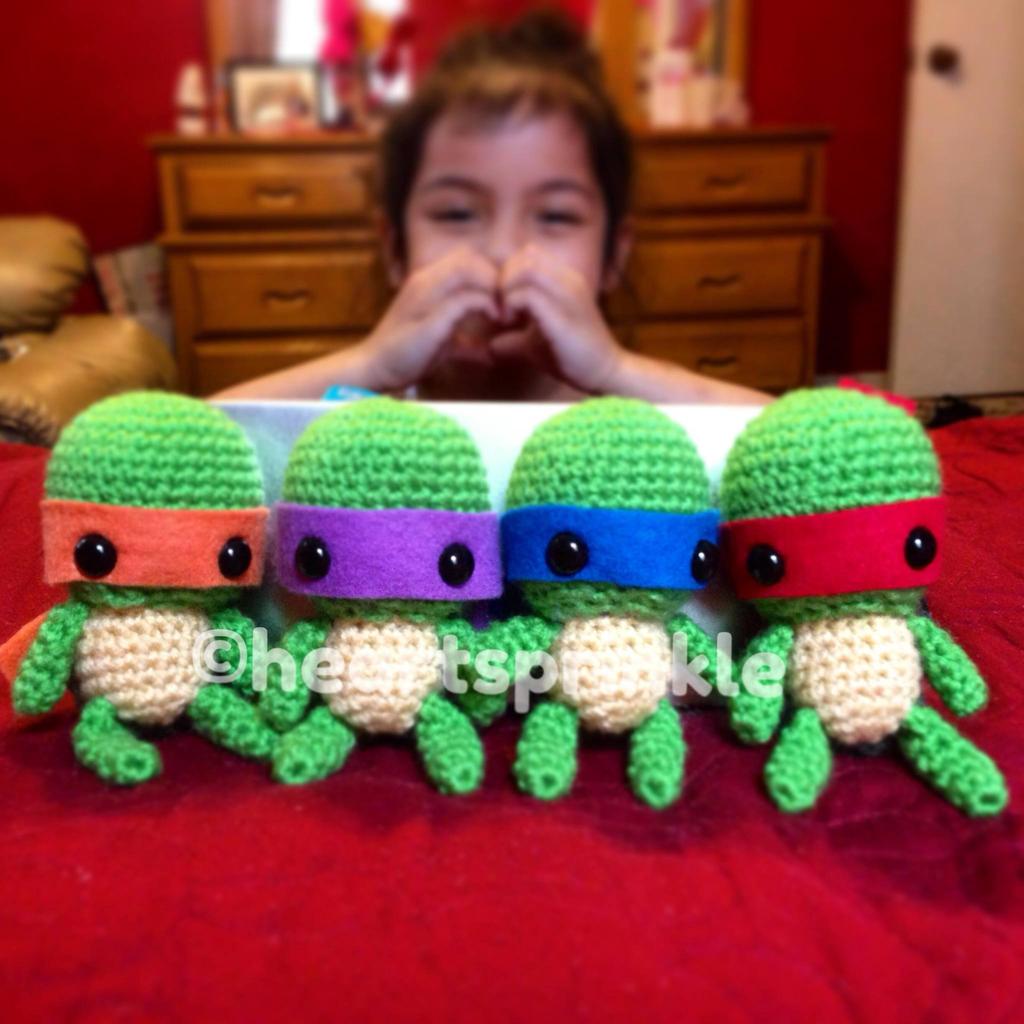 Amigurumi Teenage Mutant Ninja Turtles Set by ...