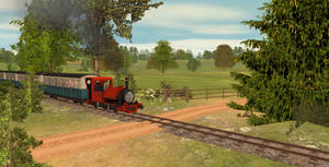 SKR Route: Crossing by Mr Hugh's Cottage