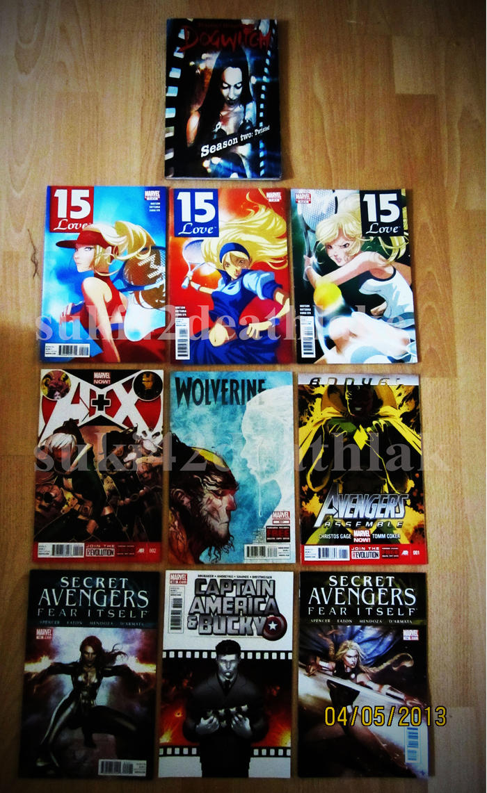 brought 10 comic books  / graphic novel today by suki42deathlake