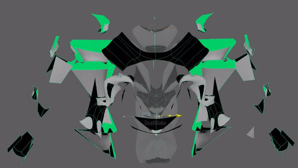 Green Glitch Glide  ( Creature Maya morph ) by suki42deathlake