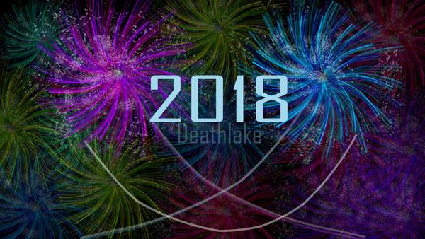 Firework flower smile 2018 / new year by suki42deathlake