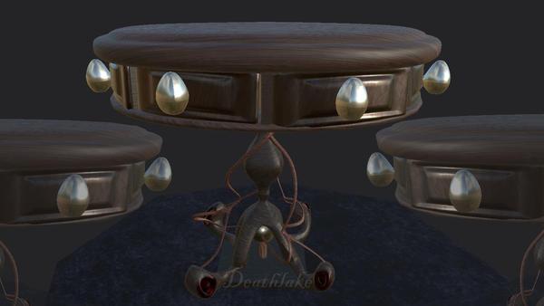 3D Gothic Snake table by suki42deathlake
