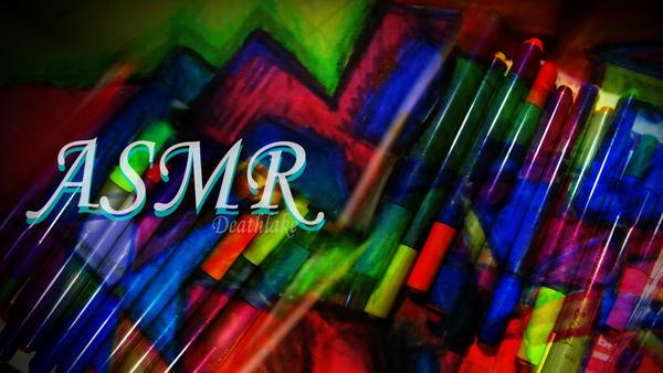 Inktober rainbow angular doodle ASMR video by suki42deathlake