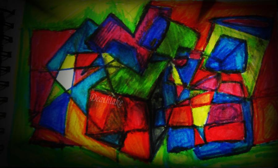Inktober angular rainbow geometric doodle by suki42deathlake