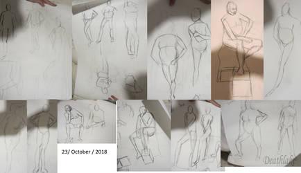 Life drawing 23 oct 2018 by suki42deathlake
