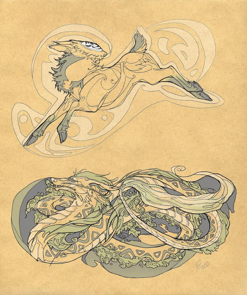 Sketch sheet 3 by AlexandrFaolchu