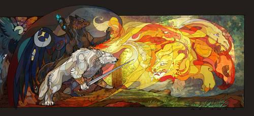 Fire chimera by AlexandrFaolchu