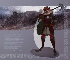 Northern warrior by AlexandrFaolchu
