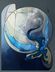 Flight under the moon by AlexandrFaolchu