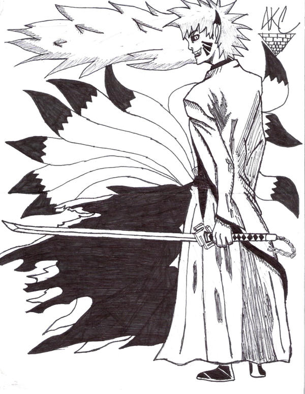 Hollow Kyubi Naruto by Arniecar