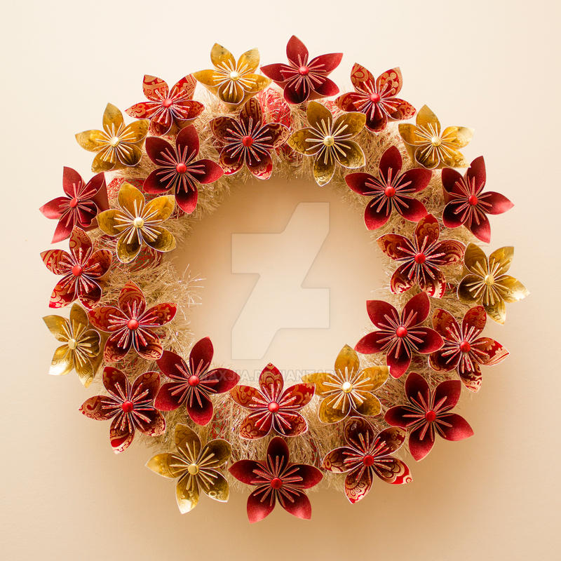Christmas Origami Wreath by Maxjia on DeviantArt