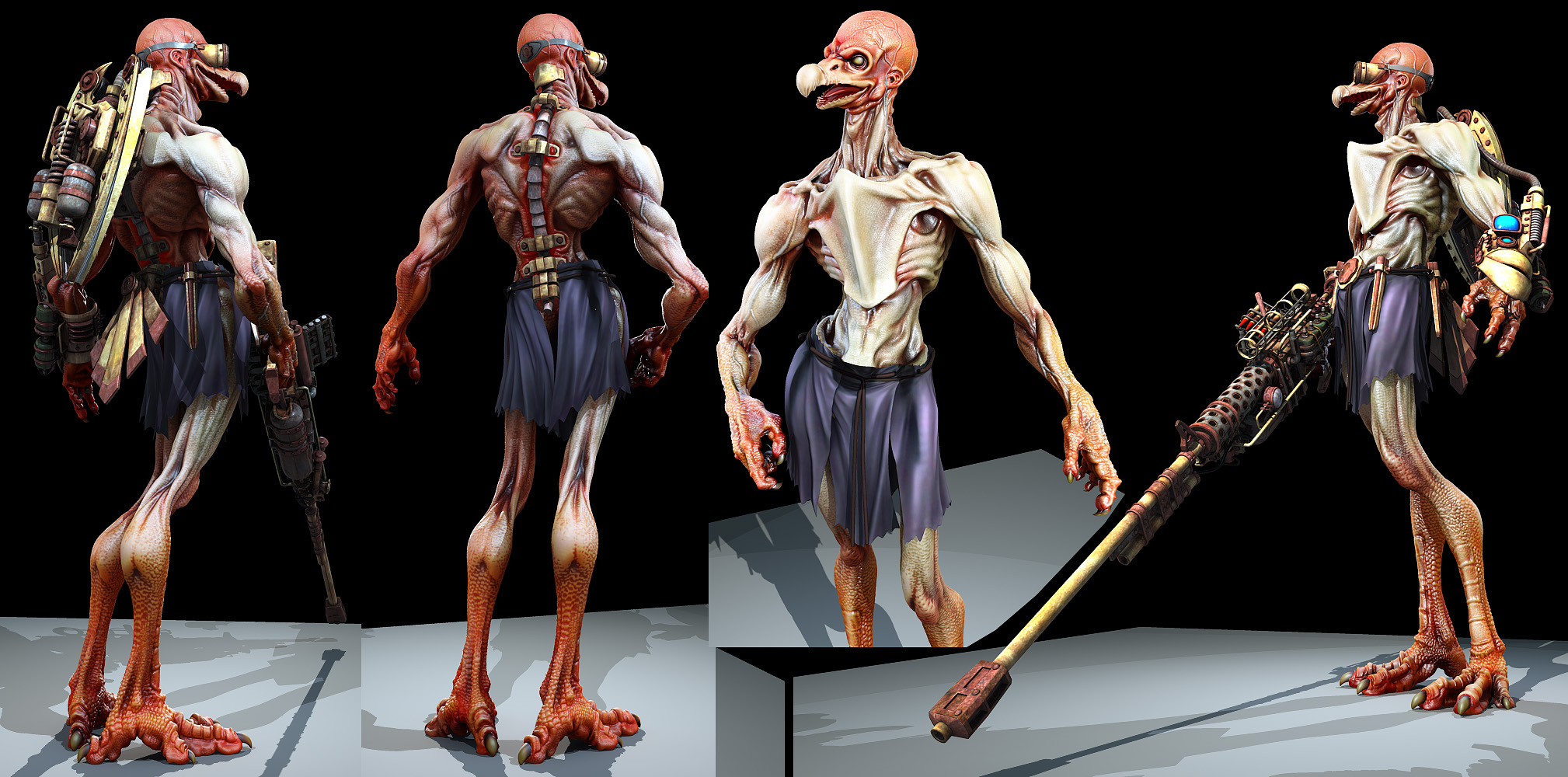 Vultureman - Redesign WIP2 by Konartist3D